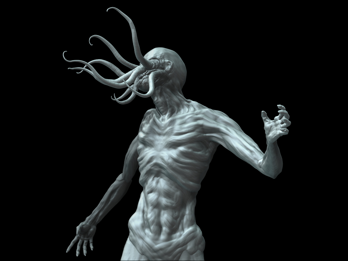 Cthulu Spawn Zsculpt   Made of Sticks