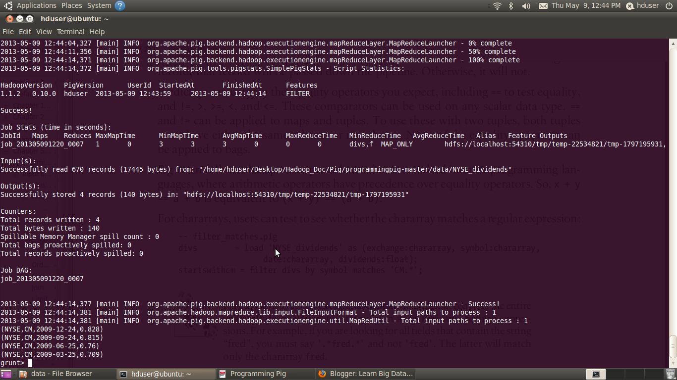 Pig Programming Part 11filter Learn Big Data Hadoop