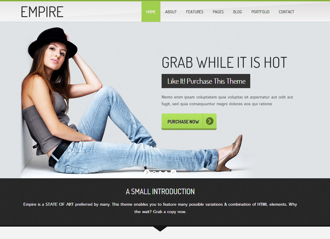 empire business portfolio html 5 template free download