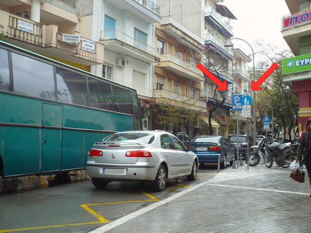 Ηφαιστίωνος: Τα λεωφορεία δυσανασχετούν από τα παρκαρισμένα