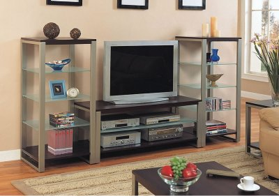 tv stand and decorative shelves ideas
