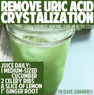 remoev uric acid cristalization