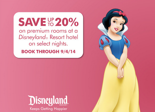 Disneyland discount offer save up to 20 percent plus gift card