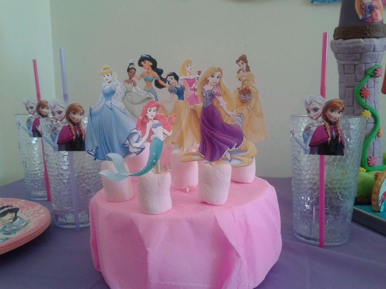 Galletas y chuches fiestas princesas disney - Decoracion fiesta princesas disney ...