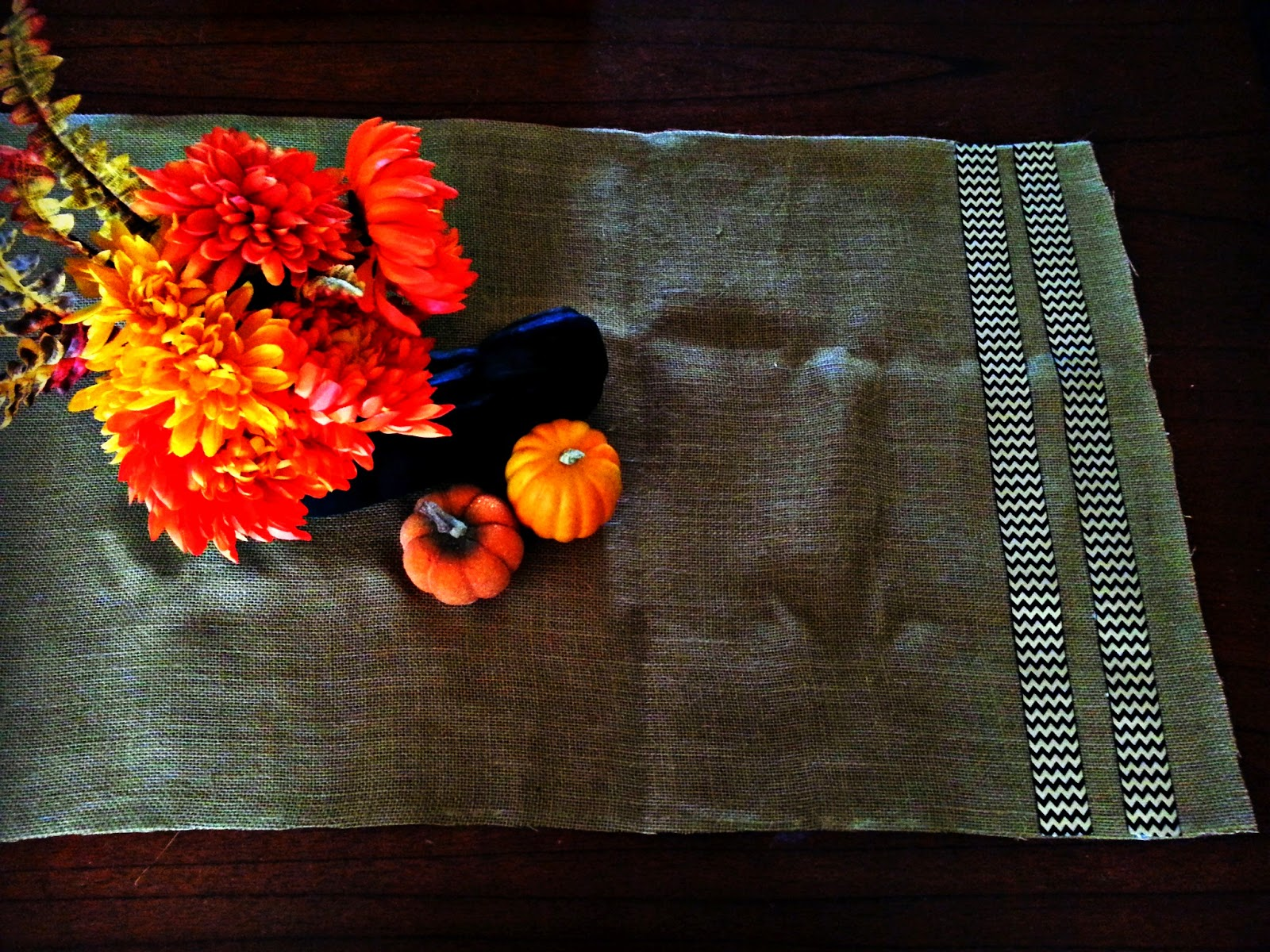 No Sew Chevron Table Runner