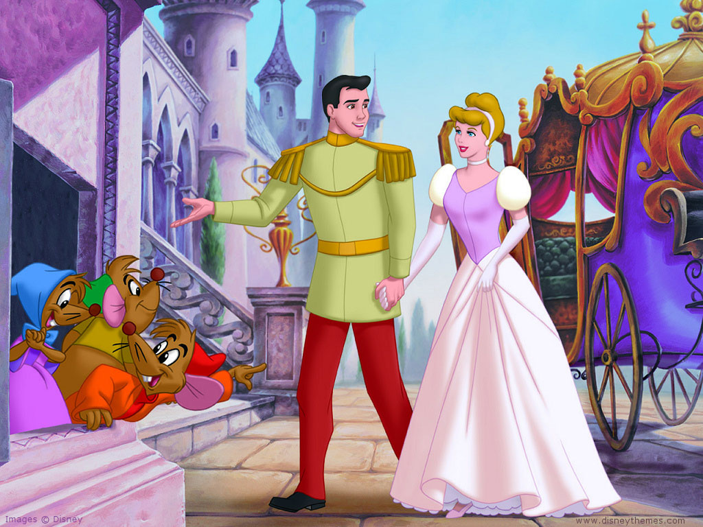Cartoon characters and animated movies cinderella 4