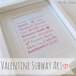 Valentine Subway Art