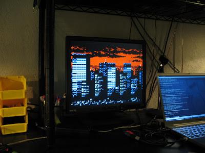 Microcontroller 128x96px 8bpp Frame Buffer