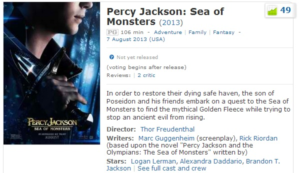 Watch Percy Jackson: Sea of Monsters Full Movie Online Free