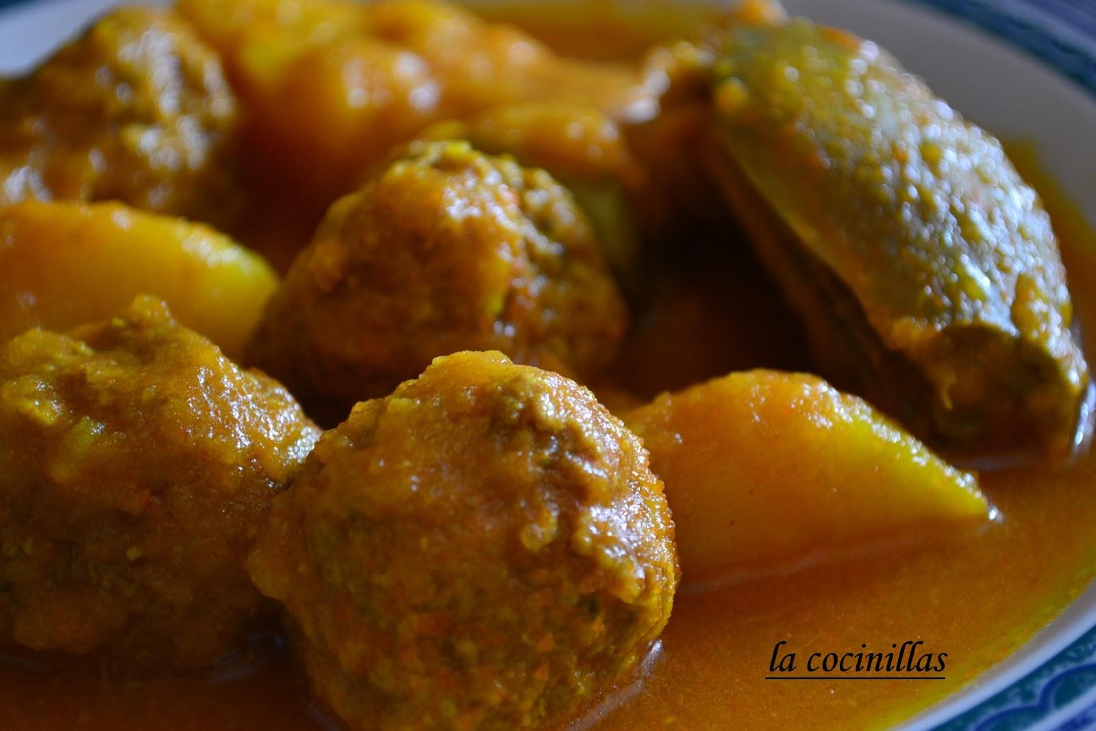 Estofado de patatas albondigas y alcachofas la cocinillas - Albondigas de patata ...