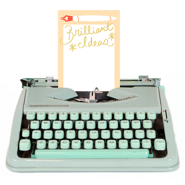 Brilliant Ideas Notepad from The Love. Luck. Kisses & Cake Shop  |  SHOP.LLK-C.com
