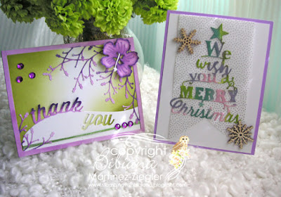 how to color die cuts merry card both cards