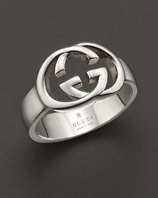 Gucci sterling silver mens ring AGB Style