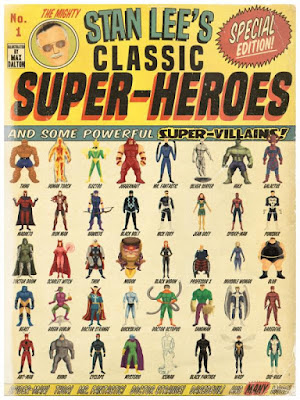 "New York Comic Con 2015 Exclusive Marvel ""Stan Lee's Classic Super-Heroes"" Print by Max Dalton"
