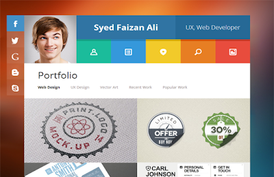 VCard Responsive Blogger Template