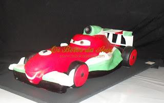 Bolo Francesco Bernoulli Cars McQueen Cake
