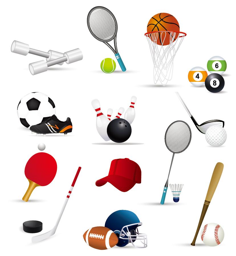 球技関連のクリップアート sports related icons イラスト素材