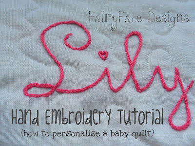 Fairyface Designs Hand Embroidery Tutorial How To Personalise A