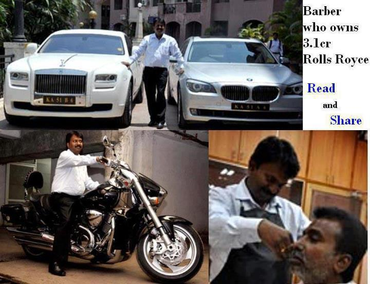 Barber who owns 3.1 cr Rolls Royce
