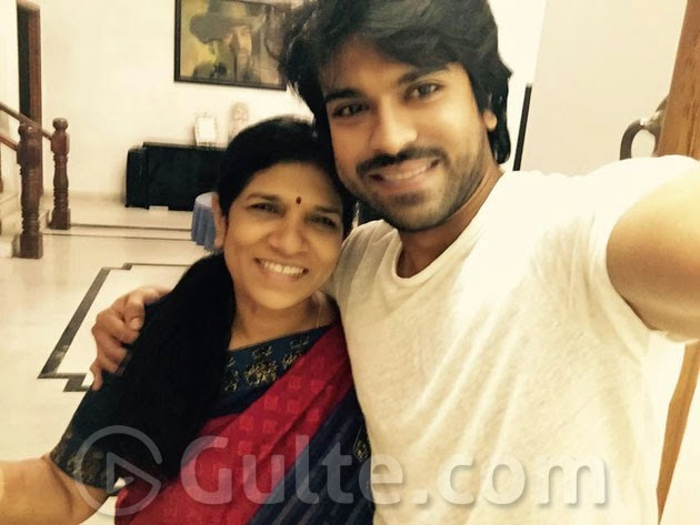 Ram Charan with Mother Surekha on Mother's day