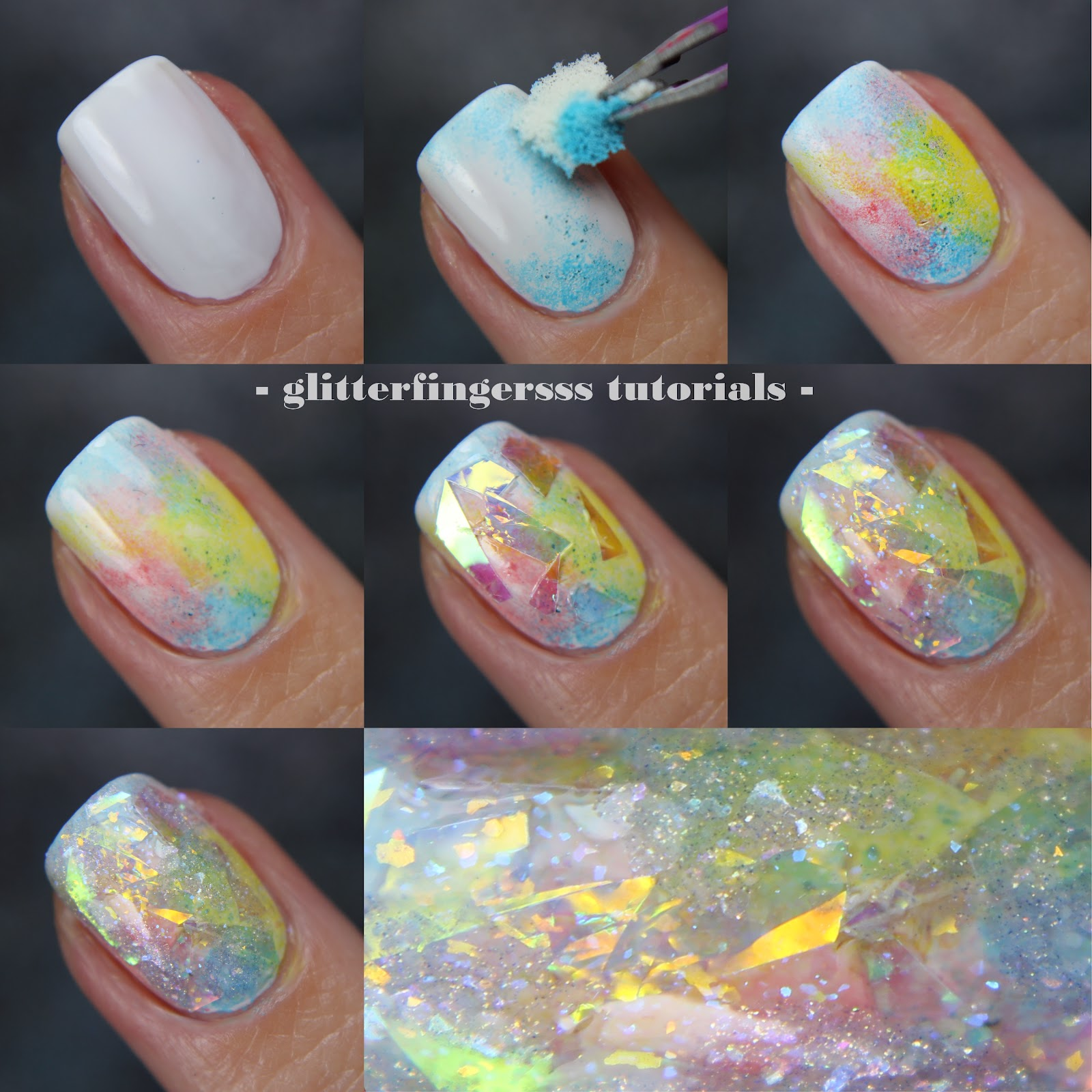 Tutorial Opal Nails Glitterfingersss In English