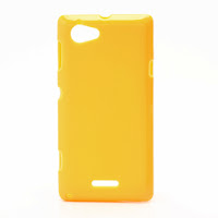TPU Jelly Case Cover for Sony Xperia L S36h C2105 C2104 - Yellow
