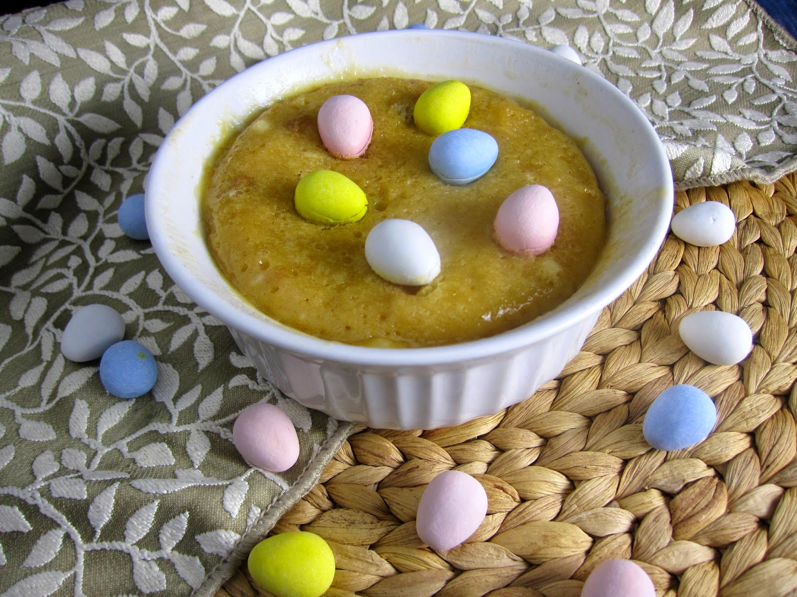 Peanut Butter Mini Egg Mug Cake