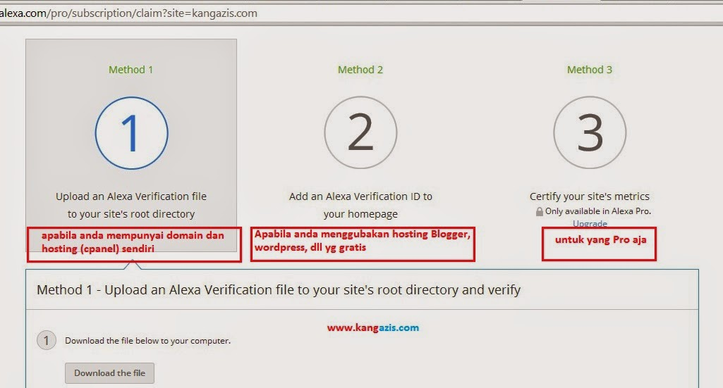 cara claim website atau blog di alexa rank