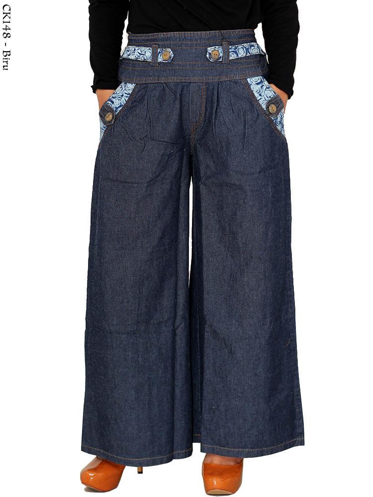 Ck148 Celana Kulot Jeans Busana Muslim Murah Terbaru