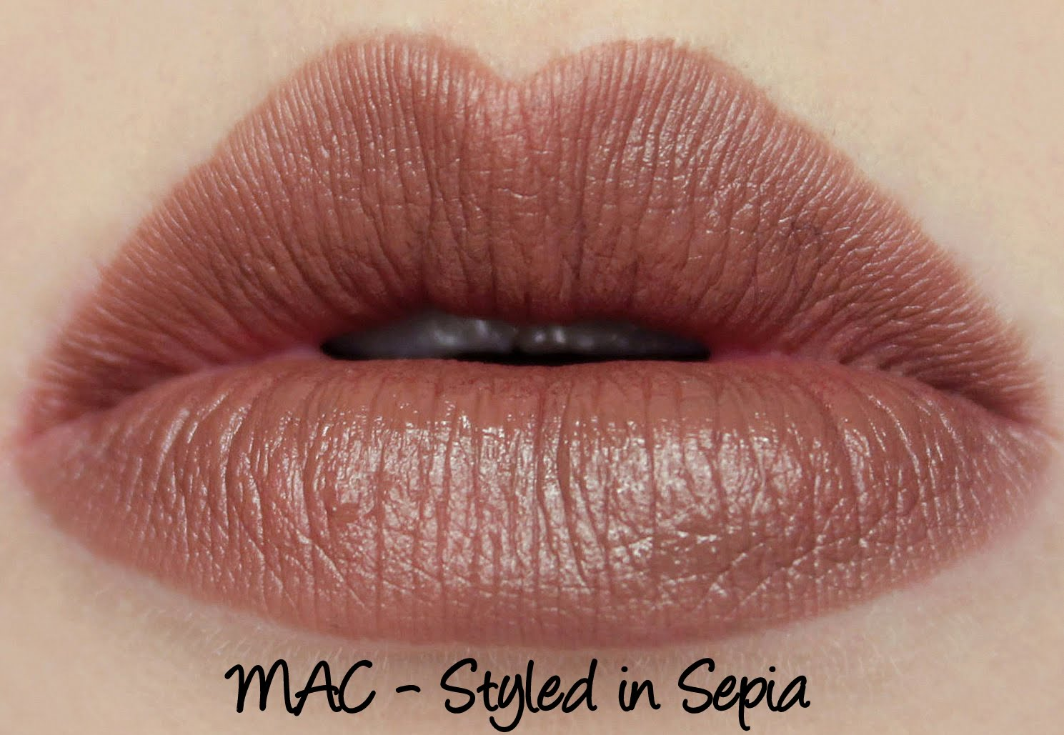 MAC Styled in Sepia Lipstick Swatches & Review