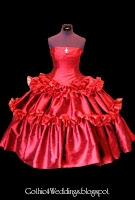 Red Silk Gothic Wedding Gowns