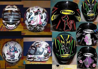 мотоциклетный шлем, роспись  предметов, роспись бокалов, роспись шлема