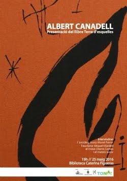 Presentació del llibre Terra d'esquelles d'Albert Canadell