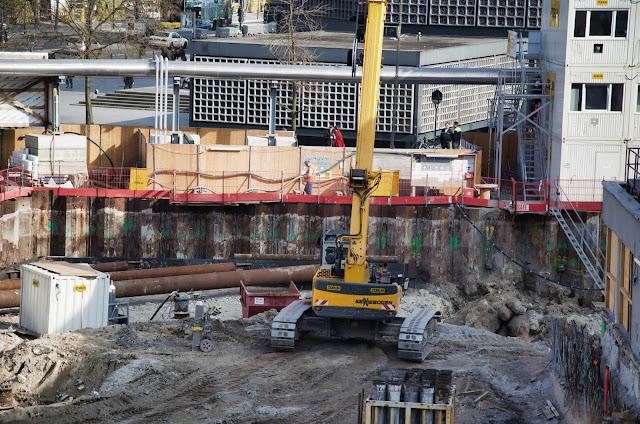 Baustelle Upper West, Hotel, Büro, Einzelhandel, (ursprünglich: Atlas Tower), geplante Höhe: 118 Meter, Breitscheidplatz, 10623 Berlin, 11.03.2014