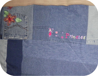 ProsperityStuff Denim Jeans Quilt for a Princess