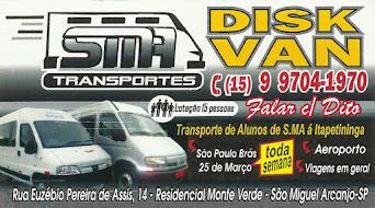 SMA TRANSPORTES DISK VAN DO DITO Faculdades, Aeroportos, Brás, 25 de Março e Viagens em Geral