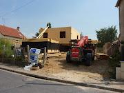 Maison bois chantier fa ade nord maison