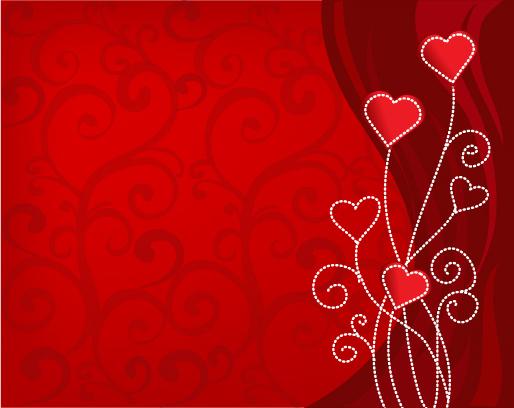 バレンタインデーのハート型背景 Heart Valentine background イラスト素材