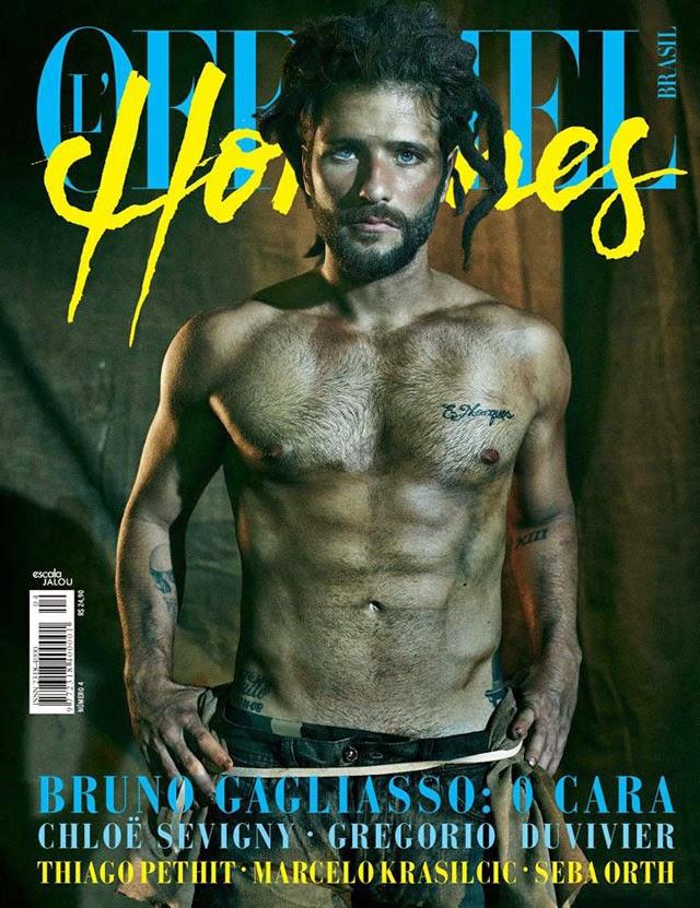 Bruno Gagliasso é capa e recheio da edição de dezembro da L'Officiel Hommes Foto: Gustavo Zylbersztajn