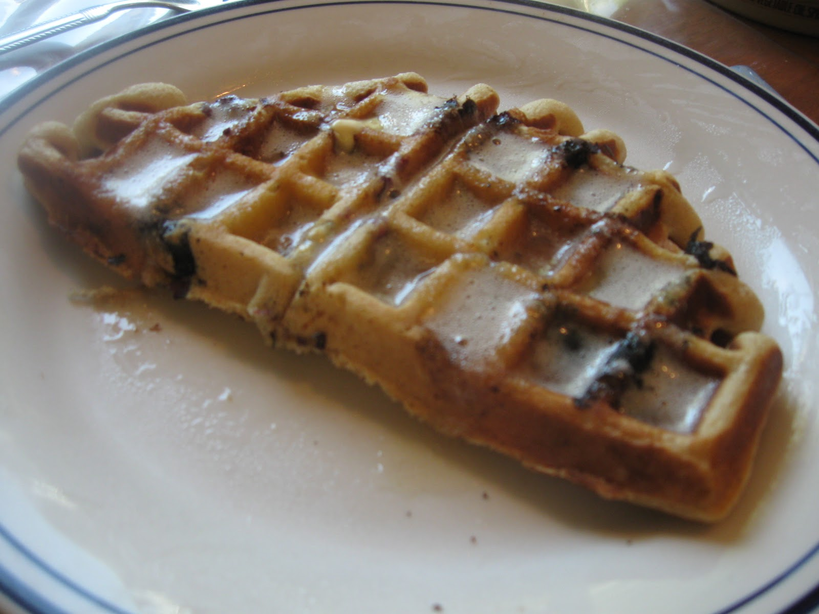 ... ' Sweet Tooth: Blueberry Buttermilk Waffles with Buttermilk Syrup