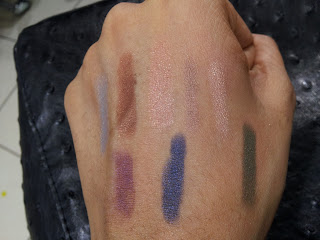 Clinique chubby stick eyes swatches Portly Plum, Massive midnight, Mighty Moss Big Blue, Fuller Fudge, Ample Amber, Lavish Lilac, Bountiful Beige