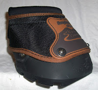 Massachusetts based Farrier displaying the side view of the Easyboot Glove Back Country