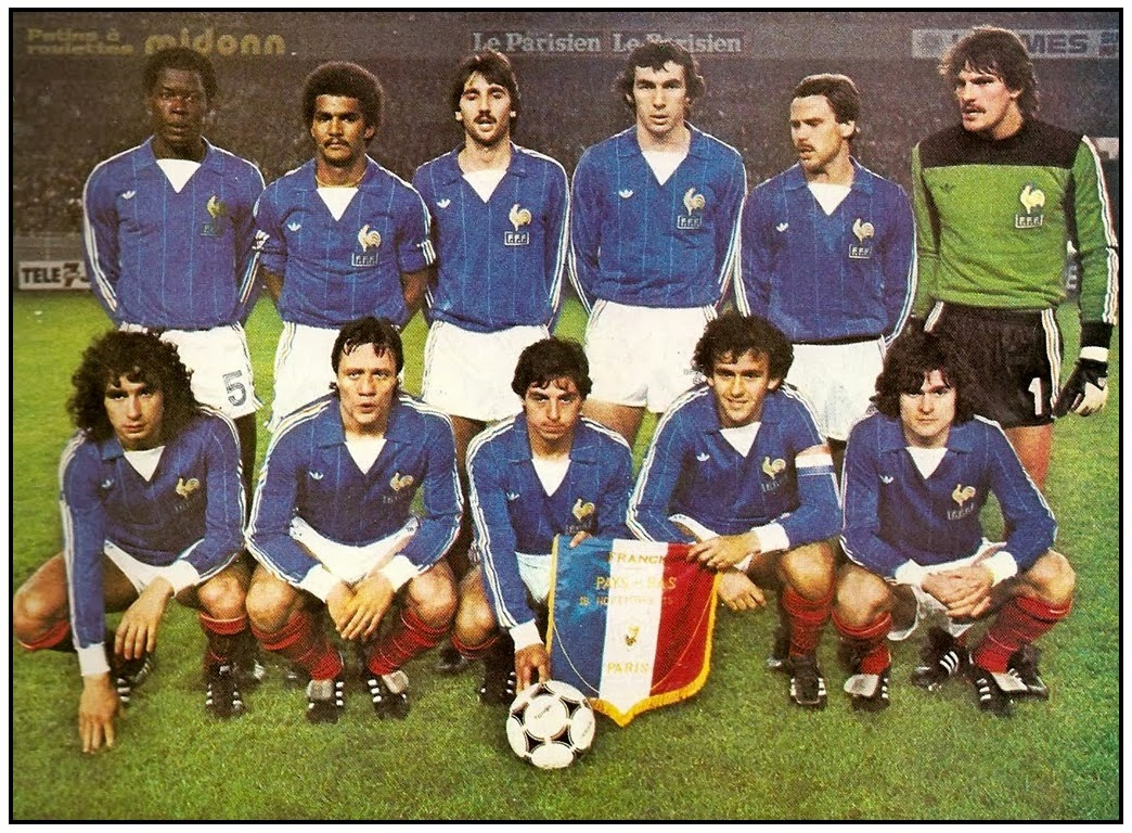Old school panini le coup franc mythique de platini face - Equipe de france 1982 coupe du monde ...