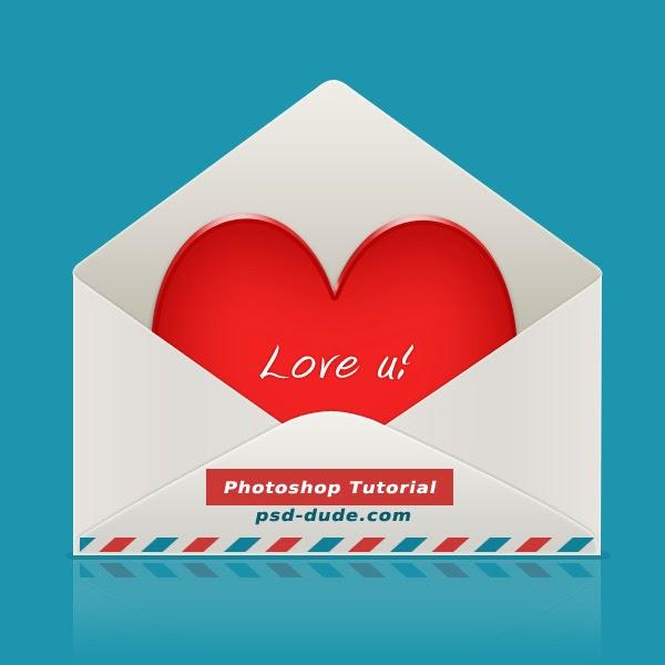 Membuat Amplop Cinta Dengan Photoshop CS6.