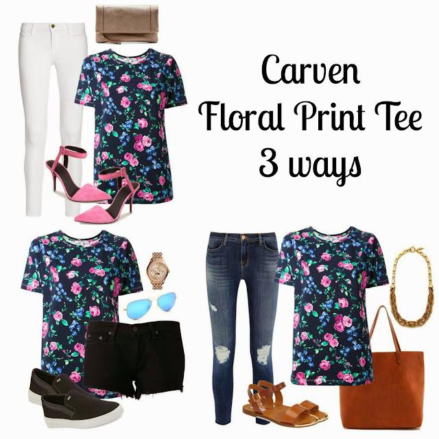 Carven Floral Print T-Shirt