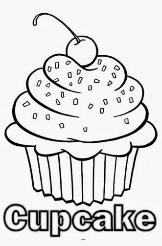 desenhos para colorir cupcake para colorir
