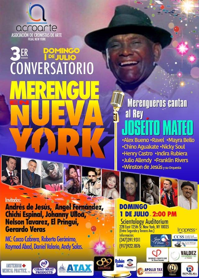 3 er CONVERSATORIO SOBRE LA HISTORIA DEL MERENGUE EN NEW YORK