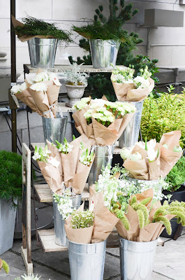 White flowers at Club Monaco summer market from Sweet woodruff, Toronto