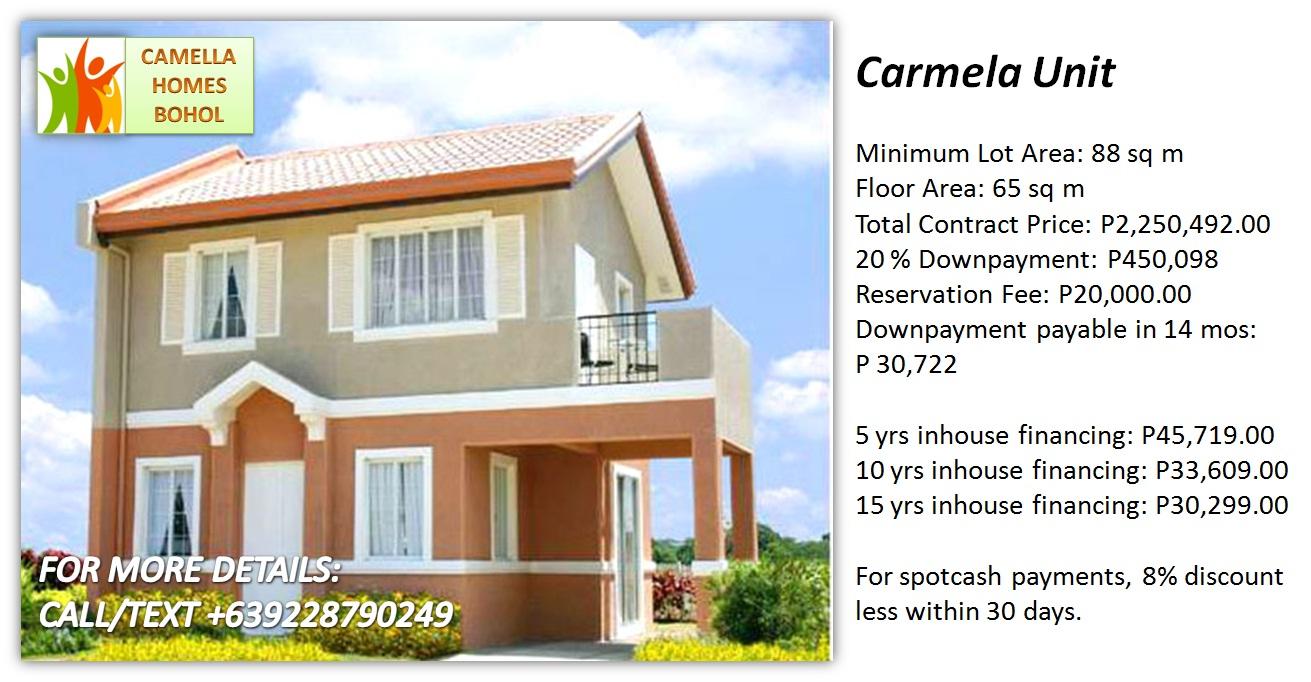 camella homes carmela unit php 2 2m filipino homes bohol