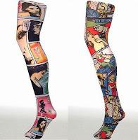 Meias tatuadas - os modelos que vão virar febre neste inverno